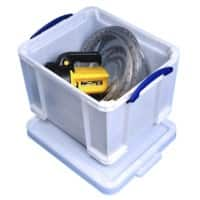 Really Useful Box Plastic Storage Extra Stong 35 Litre White 390 x 480 x 310 mm