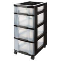 Really Useful Box Plastic 4 Drawer Unit 43 Litre 300 x 420 x 725 mm