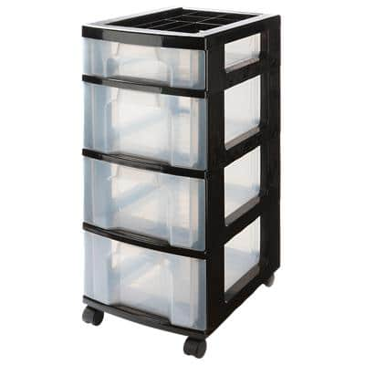 Really Useful Boxes Storage Unit 43 L Transparent Plastic 30 x 42 x 72.5 cm