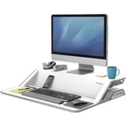 Fellowes Sit-Stand Workstation Lotus White