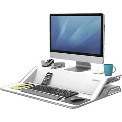 Fellowes Sit-Stand Workstation Lotus 9901 White