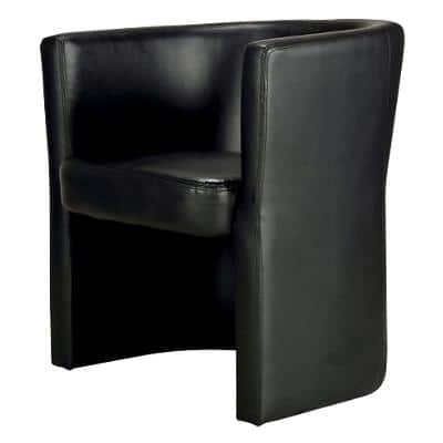 Realspace Visitor Chair with Armrest Tocca Black