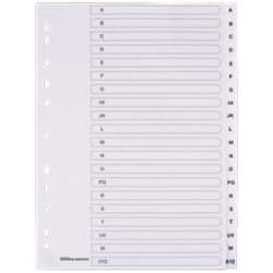 Office Depot Polypropylene Dividers, White Polypropylene, A4, 20 Part A-Z - Set