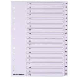 Office Depot Punched Dividers, White Board, A4, 20 Part A-Z - Set