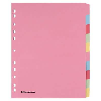 Office Depot Dividers A4+ Assorted 10 Part Perforated Card Blank