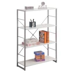 Alphason Bookcase Cabrini Modern White 1,195 x 760 x 300 mm