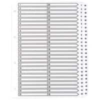 Guildhall Mylar Dividers, White, A4 50 Part 1-50 Numbered Set