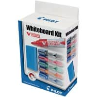 Pilot White Board Marker Set Magnetic Eraser Bullet Assorted 7 Pieces