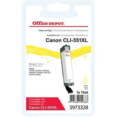 Office Depot Compatible Canon CLI-551Y XL Ink Cartridge Yellow