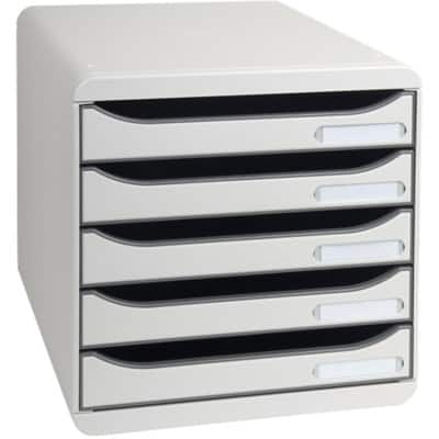 Exacompta Filing Drawers 309740D PS Light Grey 27.1 x 27.8 x 34.7 cm
