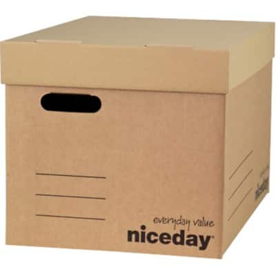 Niceday Extra Large Archive Boxes Brown 30 x 33 x 45.9 cm 10 Pieces
