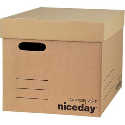 Niceday Economy XL Archive Boxes Brown 295 x 324 x 440 mm Pack of 10