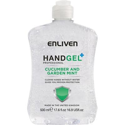 Enliven Hand Sanitiser Cucumber and Garden Mint 500 ml