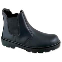 Safety Boots leather 9 Black