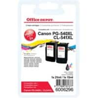 Office Depot Compatible Canon PG-540XL/CL-541XL Ink Cartridge Black & 3 Colours 2 Pieces