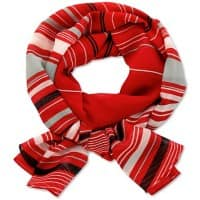 Alexandra Scarf Polyester Ruby striped black