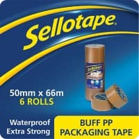 Sellotape Packaging Tape 1445172 50 mm x 66 m Brown 6 Rolls