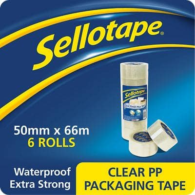 Sellotape Packaging Tape 50mm x 66m Transparent 6 Rolls