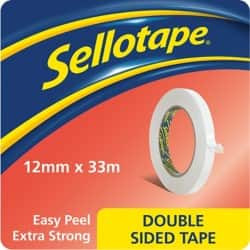 Sellotape Double Sided Tape 1447057 12 mm x 33 m Clear