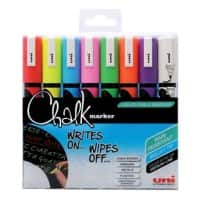 uni-ball Chalk Marker PWE-5M Assorted Pack of 8