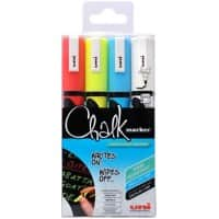 Mitsubishi Chalk Marker PWE-5M Assorted 4 Pieces