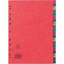 Exacompta Alphabetical Dividers A-Z A4 Multicolour 20 tabs perforated card a - z