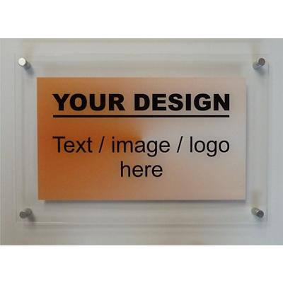 Stewart Superior Customised Sign Acrylic sign with stand off fixing A4 (297mm x 210mm)