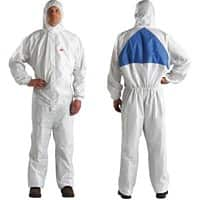 3M Overalls 4540 PU Coated Polyester L Light breathable White