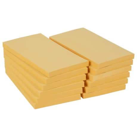Office Depot Sticky Notes Pastel Yellow 76 x 127 mm 70gsm 12 pieces of 100 sheets