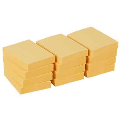 Office Depot Sticky Notes 50 x 38 mm Yellow 12 Pieces of 100 Sheets