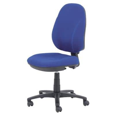 Realspace Permanent Contact Ergonomic Office Chair with Optional Armrest and Adjustable Seat Jura Blue
