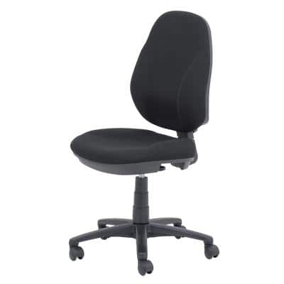 Realspace Permanent Contact Ergonomic Office Chair with Optional Armrest and Adjustable Seat Jura Black