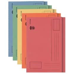 Office Depot square cut foolscap 250 gsm manilla folders – assorted pastel colours (pack of 100)