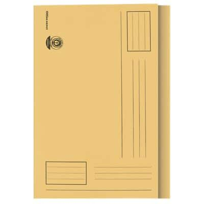 Office Depot Square Cut Folder Foolscap Yellow 180 g/m² Manila Pack of 100
