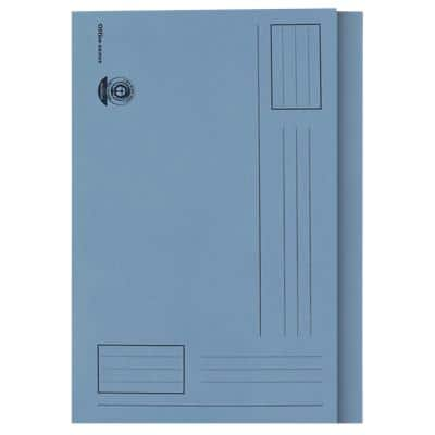 Office Depot Square Cut Folder Foolscap Blue 180 g/m² Manila Pack of 100