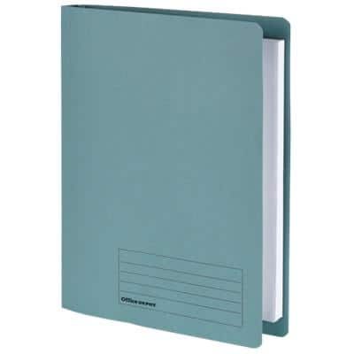 Office Depot Flat Bar File Foolscap Blue Manila 24 x 3.2 x 35.4 cm 5 Pieces