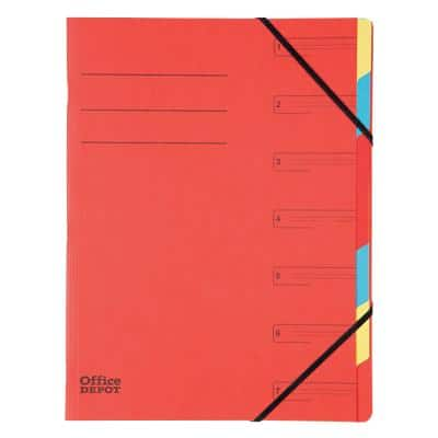 Office Depot Divider Book A4 Red Mottled Pressboard 24 x 0.4 x 32 cm