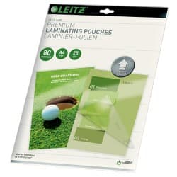 Leitz UDT Laminating Pouches glossy 80 microns A4 25 pieces