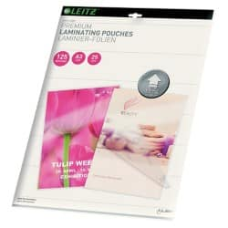 Leitz UDT Laminating Pouches glossy 125 microns A3 25 pieces