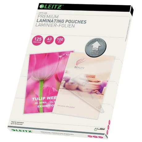 Leitz Laminating Pouches glossy 2 x 125 (250) µm A3 100 pieces