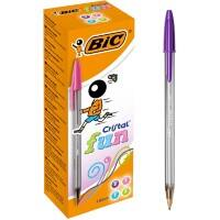 BIC Cristal Fun Ballpoint Pen Broad 0.6 mm Assorted Pack of 20