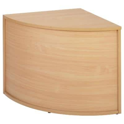 Dams International 90 Degree Corner Base Unit with Beech Coloured Melamine Top Denver 800 x 800 x 742mm