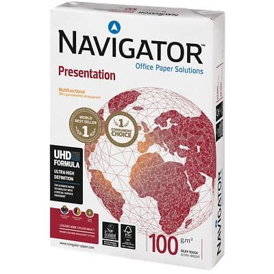 Navigator Presentation Office Paper A3 100gsm White 500 Sheets