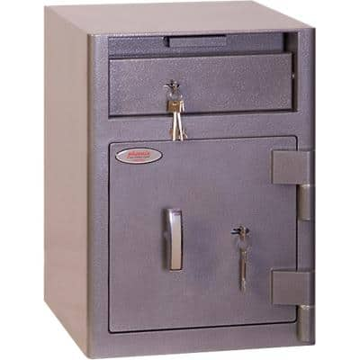 Phoenix Cash Deposit Size 1 Security Safe with Key Lock 47L SS0996KD 480 x 340 x 380mm Graphite Grey