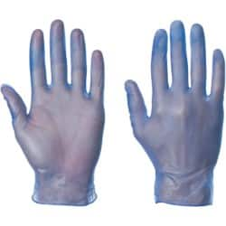 Supertouch Gloves Powdered vinyl size m Blue 100 pieces