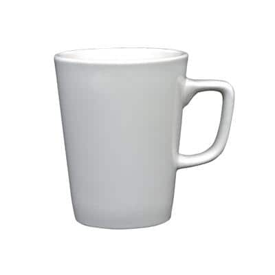 GENWARE Latte Mugs Porcelain 340ml 8 x 11cm White Pack of 6