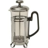 Genware Cafetiere Non Pyrex Glass 300ml 3-Cup Chrome Finish