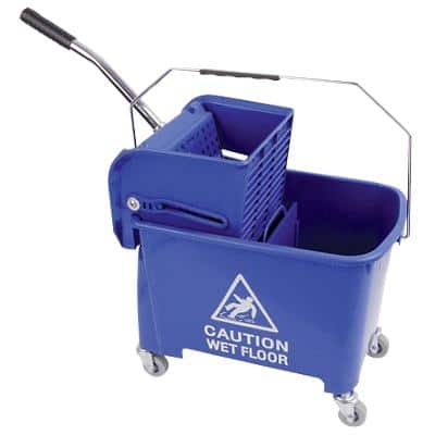 Robert Scott Mop Bucket with Wringer Plastic Blue 20L