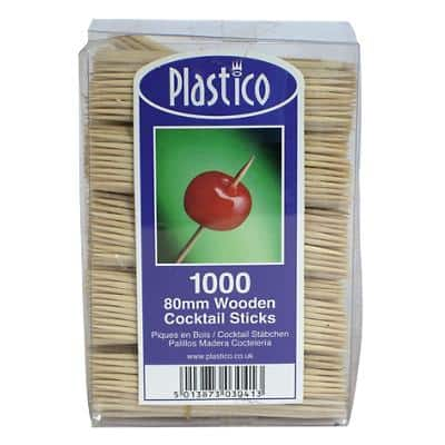 Wooden cocktail sticks pack of 1000