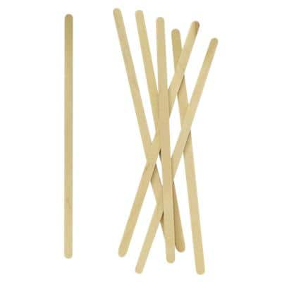 Plastico Disposable Stirrers Birchwood 0.5 x 0.1 x 14cm Brown Pack of 1000